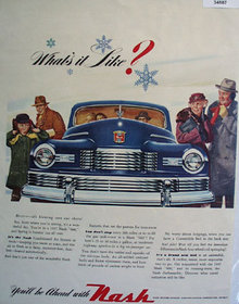 Nash Motor Division Winter Weather 1947 Ad