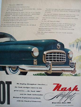 Nash Airflyte Aerodynamic Dream 1948 Ad.