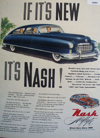 Nash Kelvinator Corp. Motor Division 1949 Ad