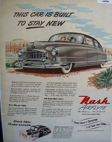 Nash Aireflyte The Statesman And Ambassador 1950 Ad
