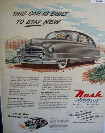 Nash Aireflyte The Statesman And Ambassador 1950 Ad