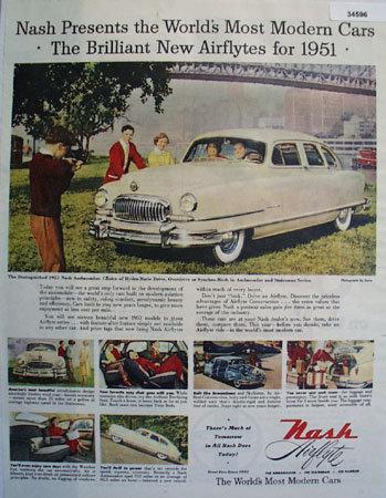 Nash Airflyte Series Ambassador 1950 Ad