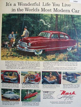 Nash Ambassador, Statesman, Rambler 1951 Ad
