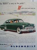 Oldsmobile Futuramic Rocket 88 1949 Ad