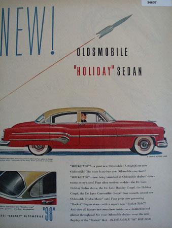 Oldsmobile Holiday Sedan 1951 Ad