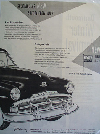 Plymouth New Inside and Outside 1951 Ad