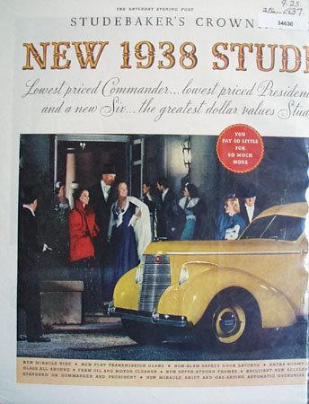 Studebaker Crown Achievement 1937 Ad