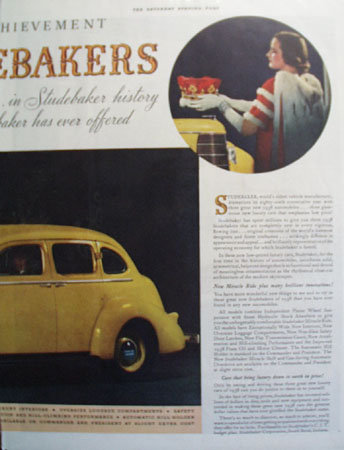 Studebaker Crown Achievement 1937 Ad