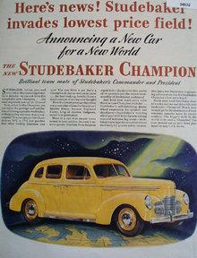 Studebaker New Champion 1939 Ad