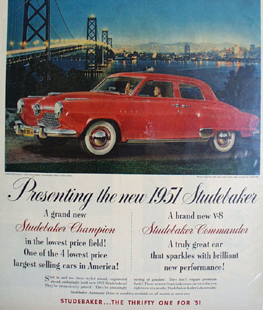 Studebaker Commander State 1950 Ad