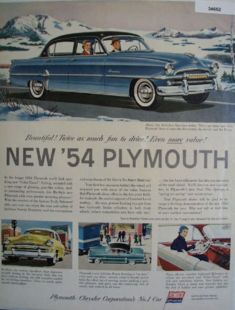Plymouth Belvedere 1953 Ad