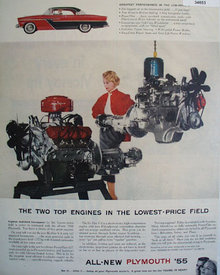 Plymouth With Hi Fire V-8 Engine 1955 Ad