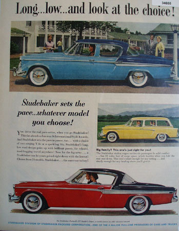 Studebaker Sets The Pace 1955 Ad