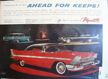 Plymouth Ahead for Keeps 1957 Ad