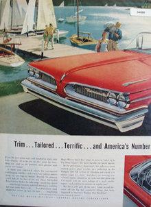 Pontiac Wide track Wheels 1958 Ad