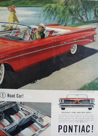 Pontiac Wide track Wheels 1958 Ad