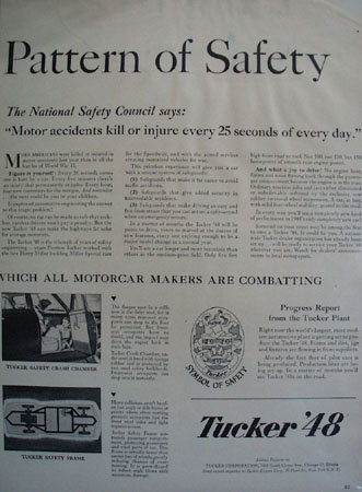 Tucker Corporation Symbol of Safety 1948 Ad