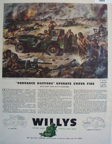 Willys Motor Cars Trucks and Jeeps 1940s Ad