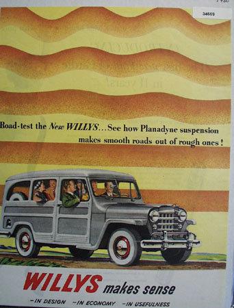 Willys Makes Sense 1950 Ad