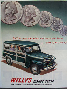 Willys Station Wagon Built To Serve 1951 Ad