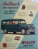 Willys Station Wagon Rollback car expense 1951 Ad