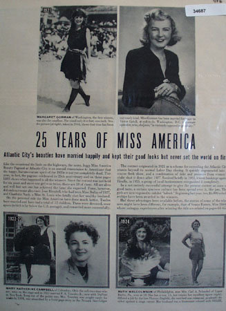 Miss America 25 Years 1945 Article