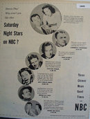 Stars on NBC 1951 Ad