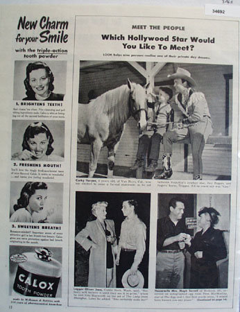 Hollywood Stars 1947 Article
