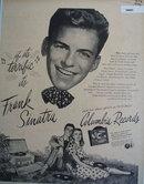 Frank Sinatra Columbia Records 1946 Ad