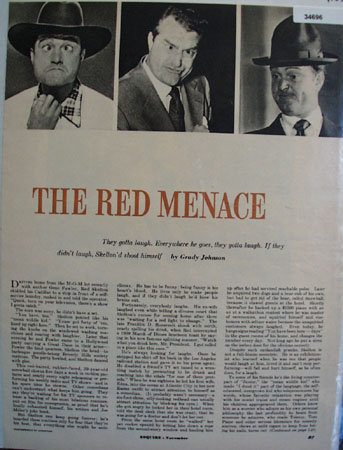The Red Menace By Grady Johnson 1952 Article