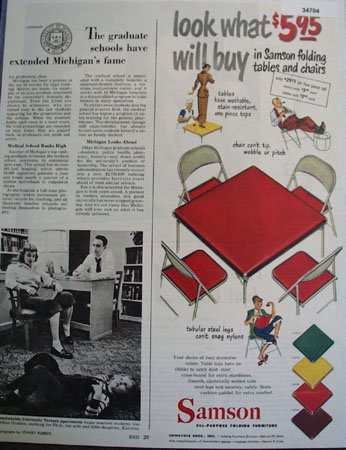 Samson Folding Furniture 1949 Ad