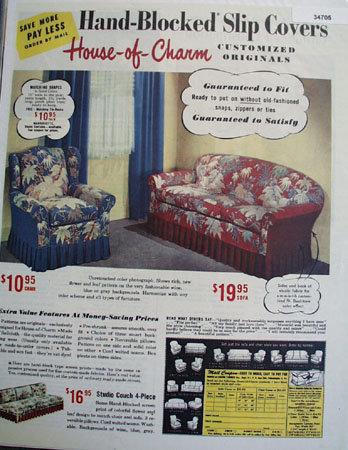 House of Charm Fabrics 1947 Ad