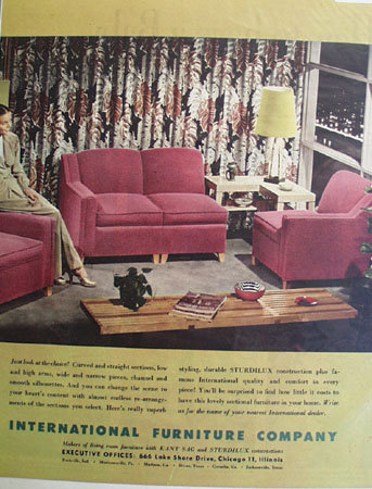 International Furniture Co. 1948 Ad