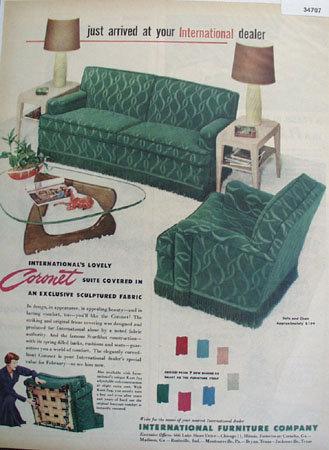 International Furniture Company 1950 Ad.
