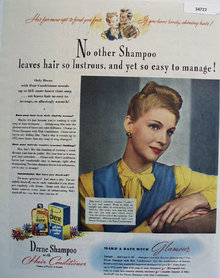 Drene Shampoo With Hair Conditioner 1944 Ad