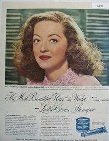 Lustre Crème Betty Davis 1951 Ad