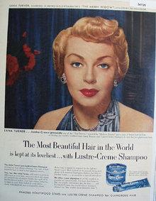 Lustre Crème Shampoo Lana Turner 1952 Ad