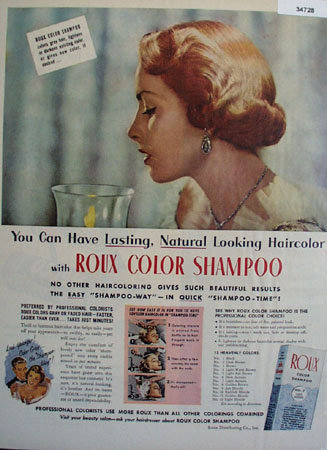 Roux Color Shampoo 1951 Ad