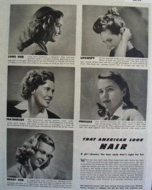 That American Look Hair 1946 Article