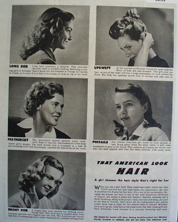That American Look Hair 1946 Article