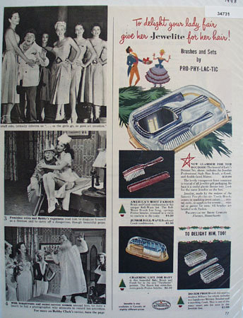 Brushes and Sets By Pro-Phy-Lac-Tic 1948 Ad