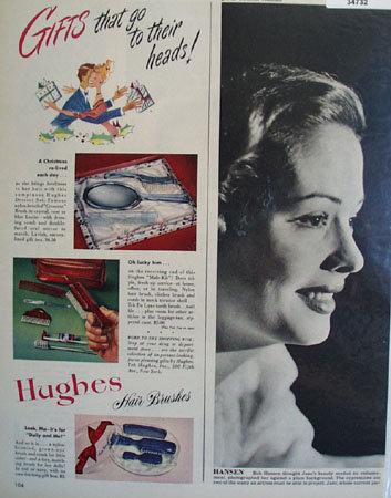 Hughes Hair brushes 1948 Ad