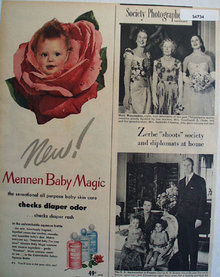 Mennen baby Magic Skin Care 1950 Ad