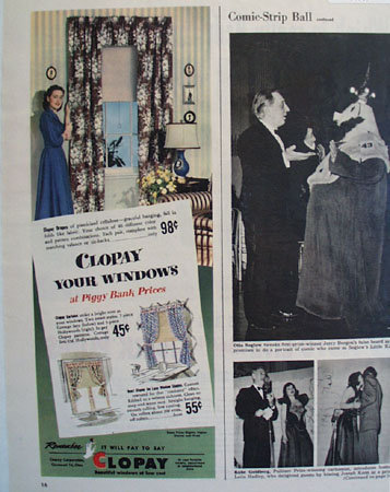 Clopay Corp. Window  Drapes 1948 Ad