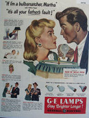 General Electric Light Bulbs 1947 Ad
