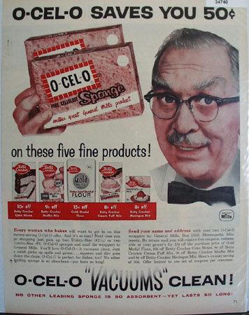 General Mills O-Cel-0 Sponge 1958 Ad