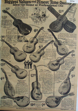 Montgomery Ward Order by Mail Musical Instruments 1925 Ad