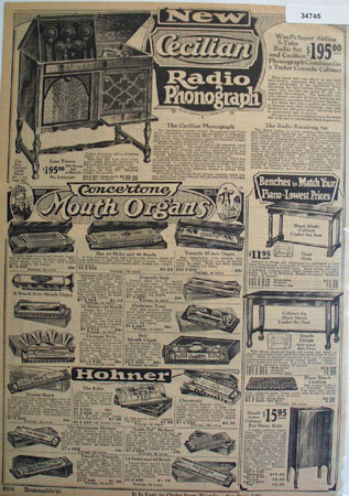 Montgomery Ward Mouth Organs 1925 Ad