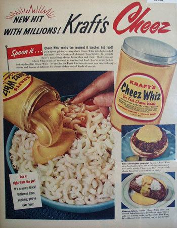 Krafts Cheez Whiz 1953 Ad