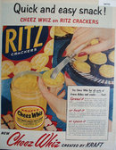 Cheez Whiz And Ritz Crackers 1955 Ad